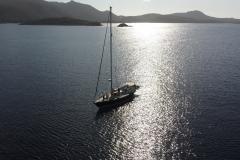 Een baai te ver ankeren op Sardinië